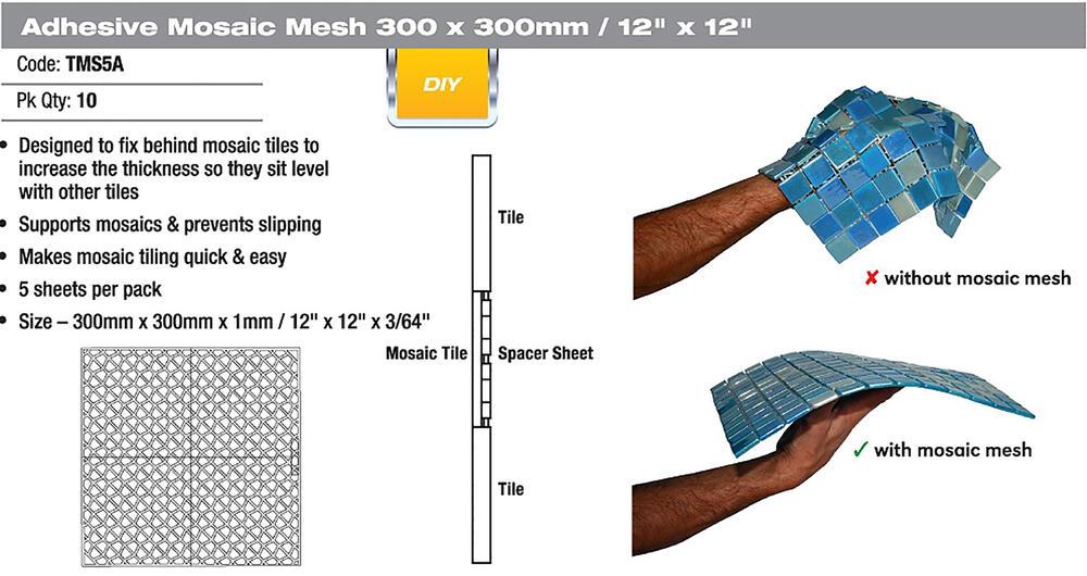 dta mosaic backer sheets 5 pack at