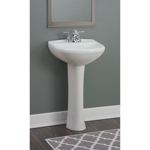 cavalier white bathroom sink pedestal