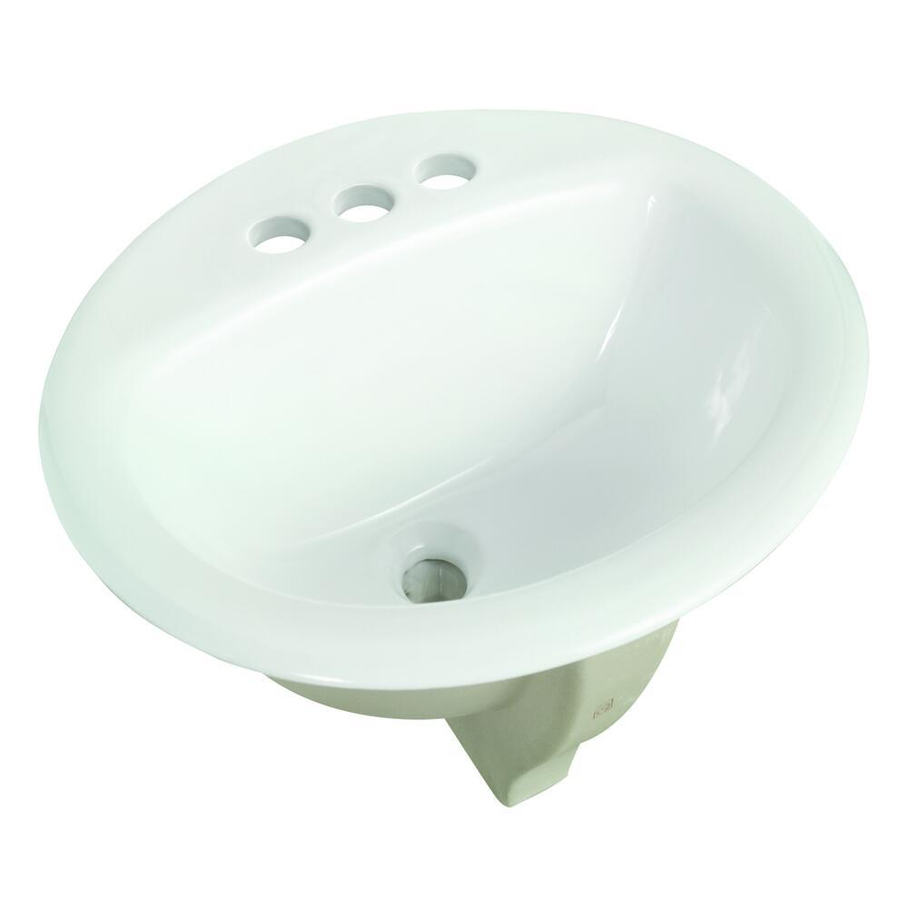 round drop in bathroom sink
