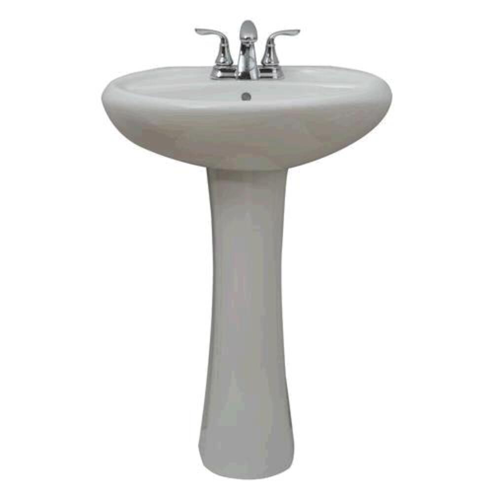 white oval bathroom pedestal sink