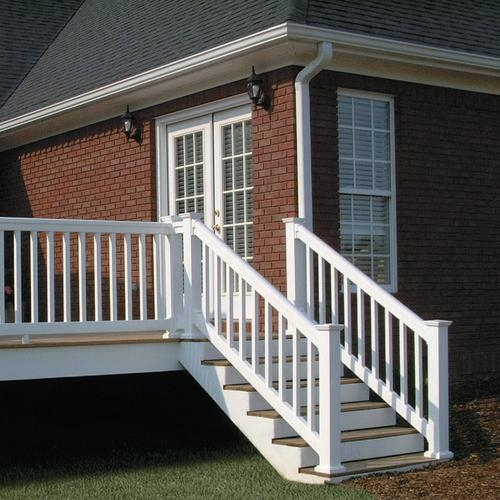 Fypon® Quickrail® Premium Stair Rail Kit With Square | Outdoor Stair Railing Menards
