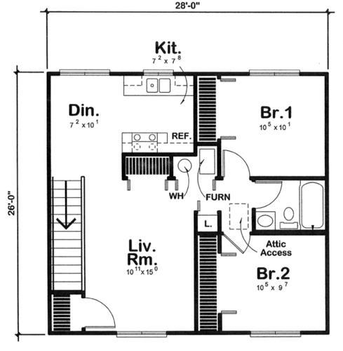 Two Bedroom Apartment Garage Building Plans Only At Menards
