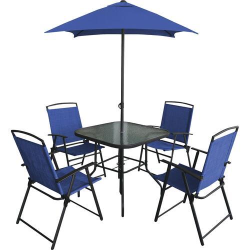 6 piece folding dining patio set