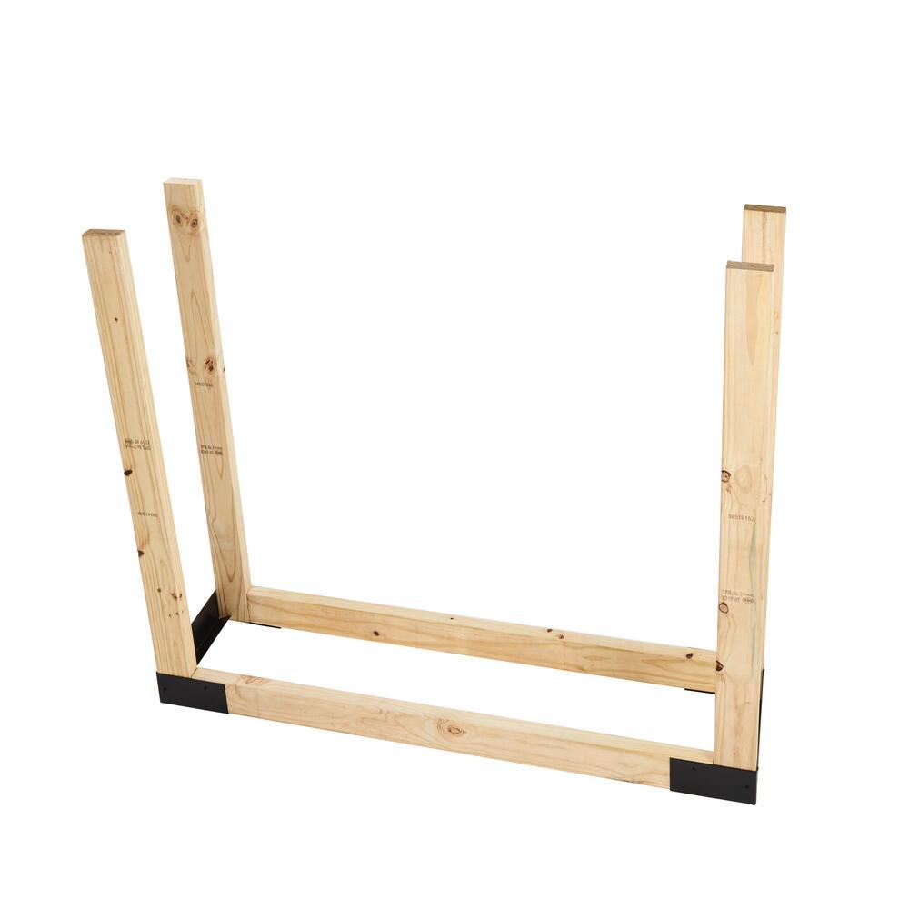 shelter adjustable firewood log rack