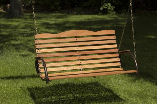 hardwood porch swing at menards