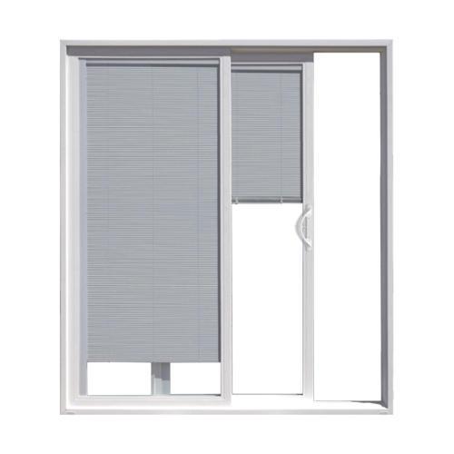 https www menards com main doors windows millwork exterior doors patio doors jeld wen reg builders series vinyl internal blinds sliding patio door menoljw156200091 p 1444436406074 htm