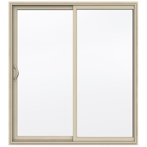 x 80 h almond vinyl sliding patio door