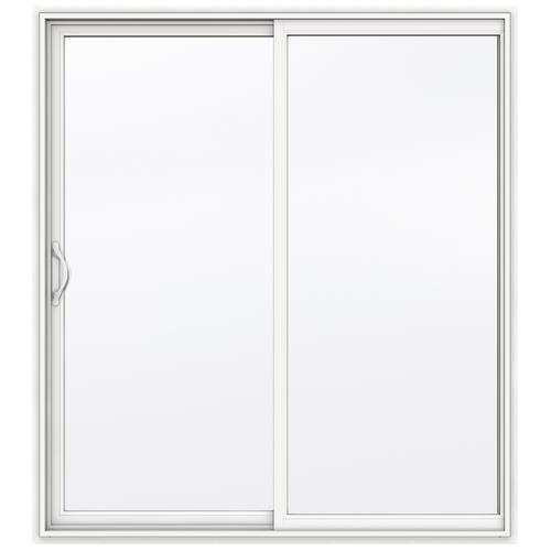 x 80 h white vinyl sliding patio door