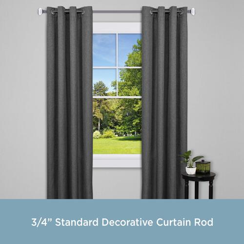 standard decorative curtain rod