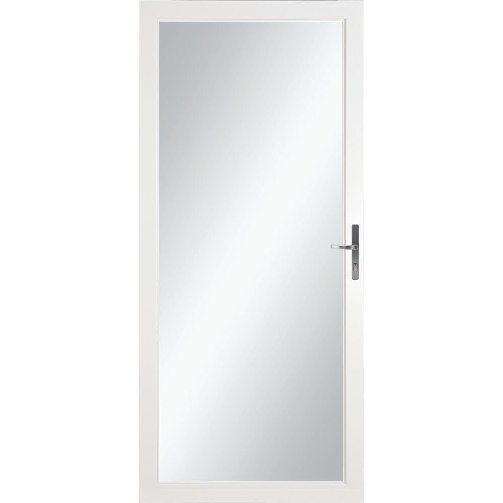 nickel handleset fullview storm door