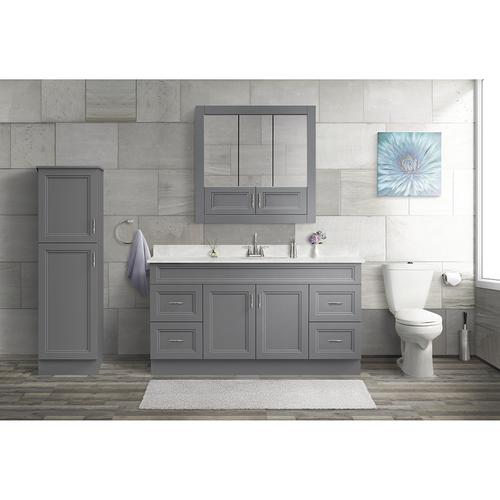 Magick Woods Elements Stratton 60 W X 21 D Gray Bathroom Vanity Cabinet At Menards