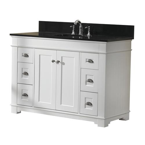 Magick Woods Charlotte 48 W X 21 D White Bathroom Vanity Cabinet At Menards