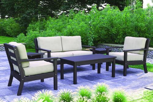 lavine beige 6 piece patio seating set