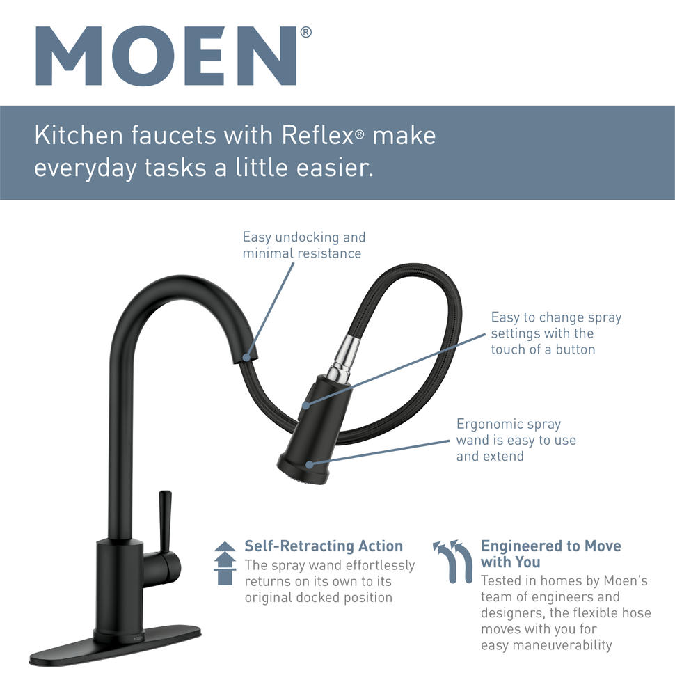 touchless one handle pull down kitchen