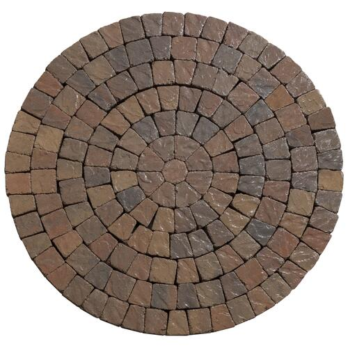 9 1 2 tumbled circle paver kit at menards