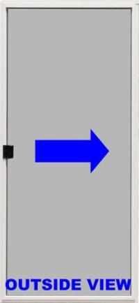 Mastercraft White 6 ft. Sliding Patio Door Screen Kit LH ...