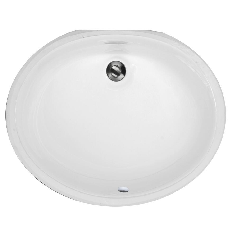 white oval undermount bathroom sink