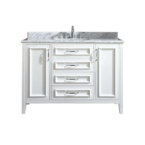 Ove Decors Claire 48 W X 21 D White Bathroom Vanity Cabinet At Menards