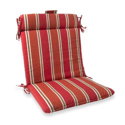 sangria stripe wrought iron patio chair