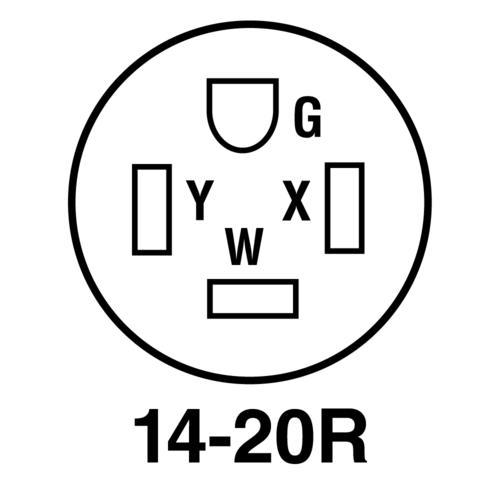 Legrand® Pass & Seymour® 20-Amp 125/250-Volt 4-Wire Black