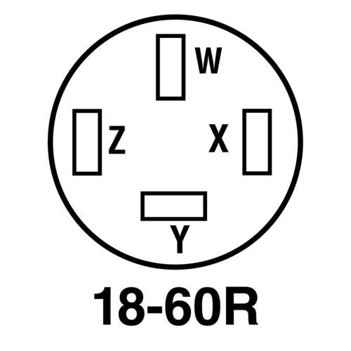 Legrand® Pass & Seymour® 60-Amp 3-Phase 120/208-Volt 4