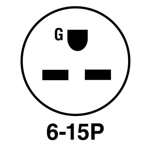 Legrand® 15 amp Black and White Extra-Hard Use Plug at