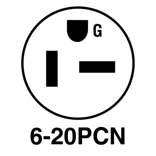 Legrand® 20 amp Black and White Extra-Hard Use Plug at