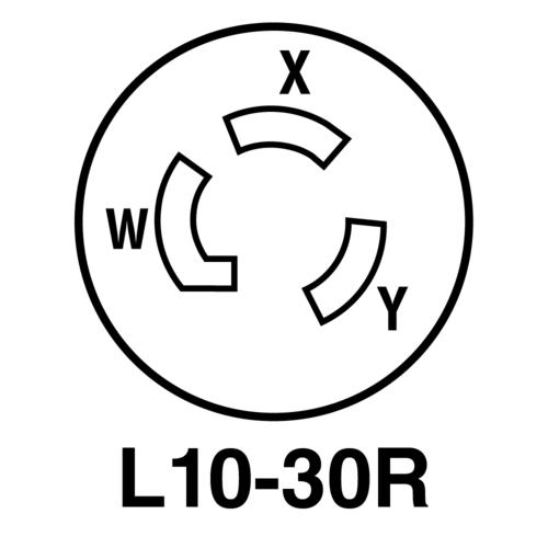 Legrand® Pass & Seymour® 30-Amp 125/250-Volt Black Locking