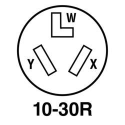 Legrand® Pass & Seymour® 30-Amp 125/250-Volt 3-Wire Black