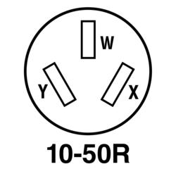 Legrand® Pass & Seymour® 50-Amp 125/250-Volt 3-Wire Black