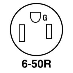 Legrand® Pass & Seymour® 50-Amp 250-Volt 3-Wire Black