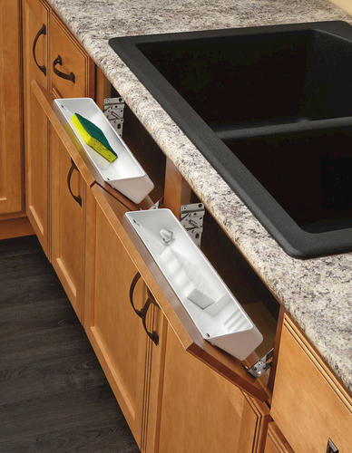 white sink front tip out tray