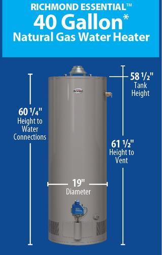 Richmond Hot Water Heater Parts : richmond, water, heater, parts, Richmond, Integra, Water, Heater