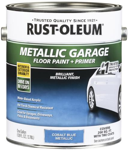 Rust Oleum Metallic Garage Floor Paint Primer 1 Gal At Menards