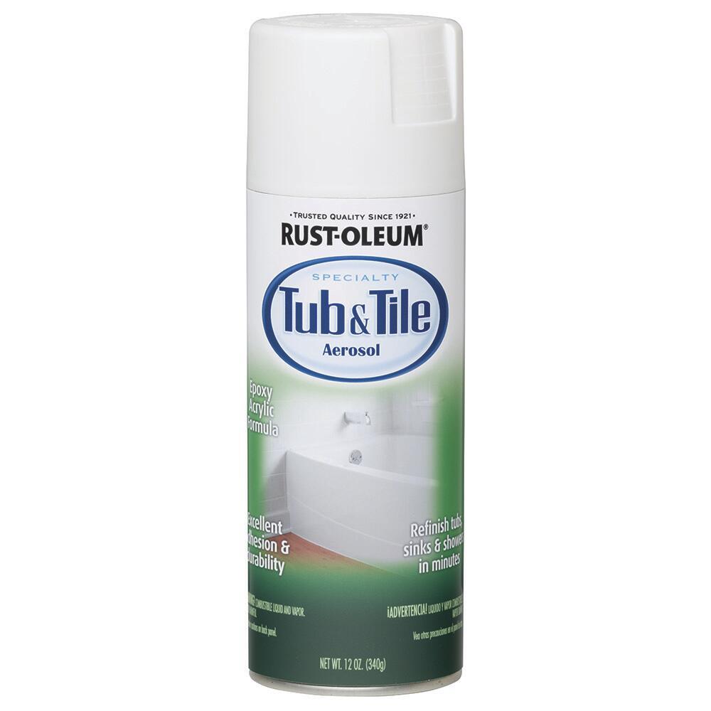 specialty gloss white tub tile spray