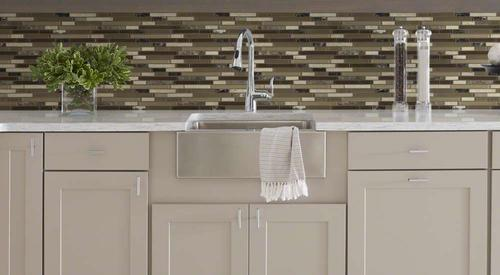 shaw majestic mix 12 x 12 glass and stone mosaic tile at menards