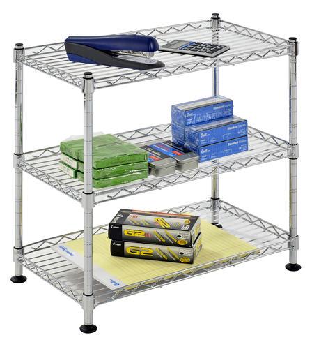 3 shelf wire freestanding shelving unit