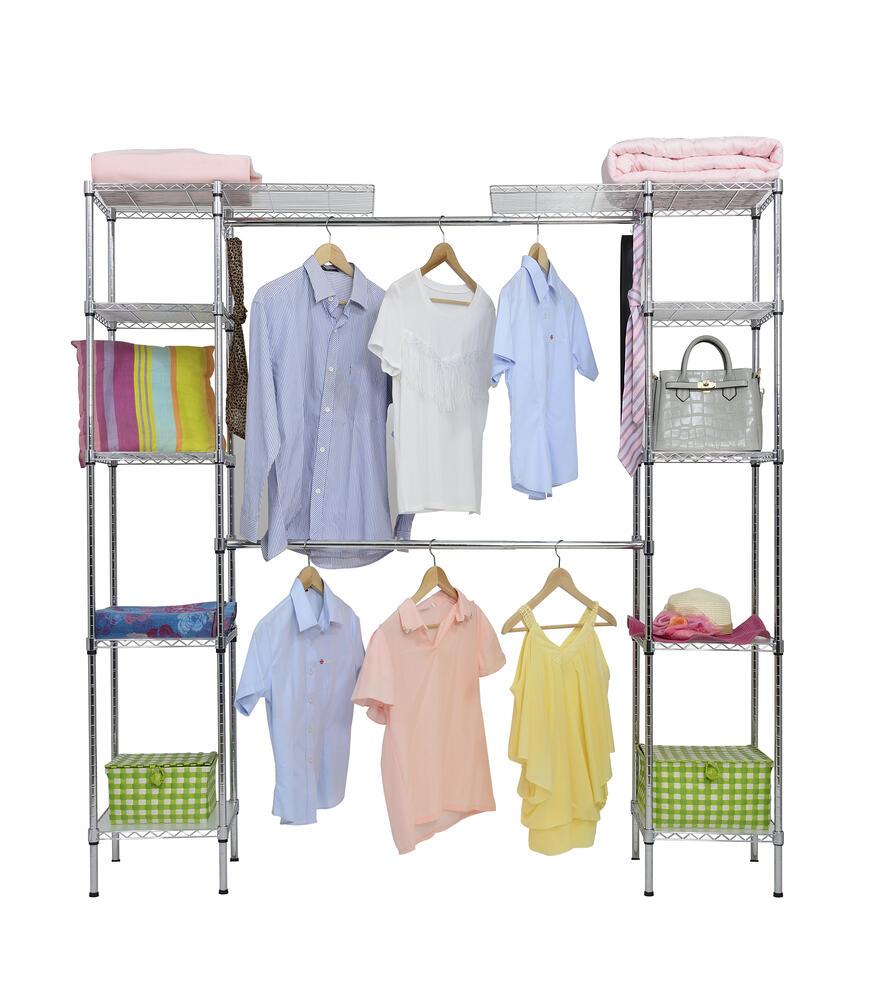 chrome expandable clothing rack at