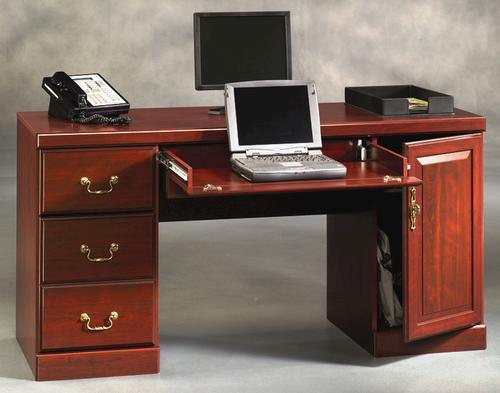 Sauder Heritage Hill Classic Cherry Computer Credenza at