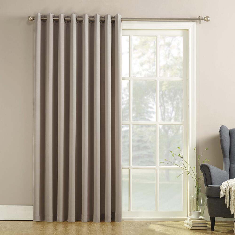 sliding patio door curtain panel