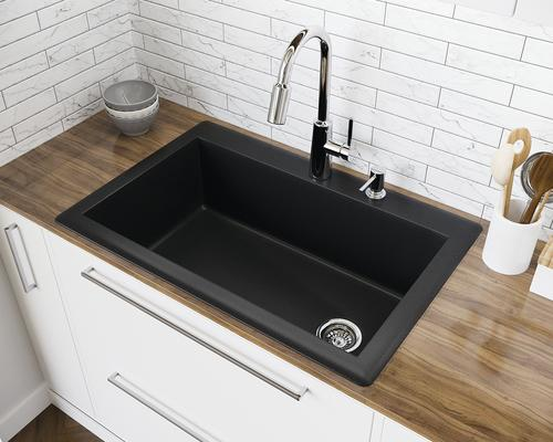 swan granite kitchen sinks industrial equipment dual mount 33 composite single bowl sink at menards