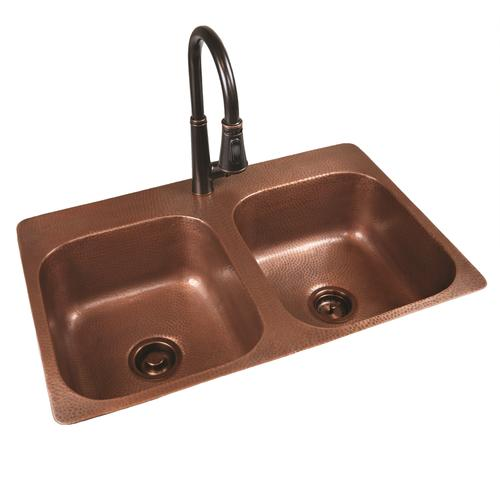 menards kitchen sink folding table sinkology riley top mount 33 copper 1 hole double bowl at