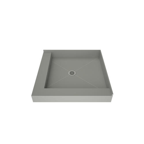 redi base double curb shower pan with center drain at menards