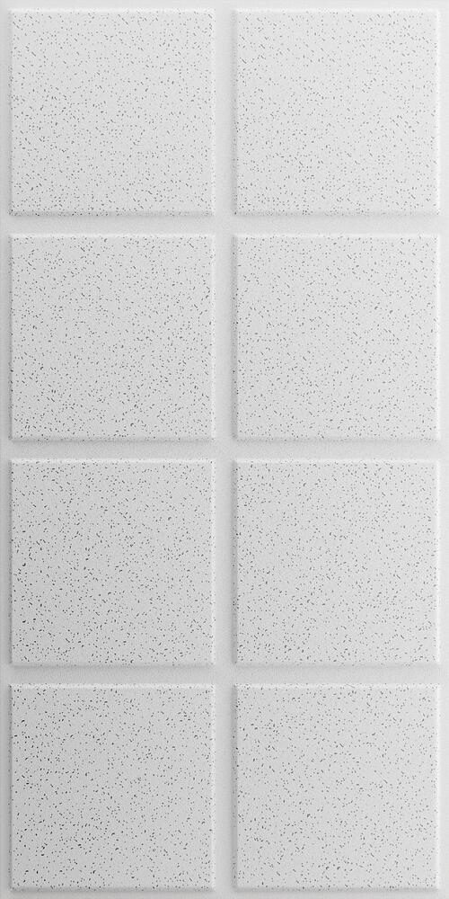 white acoustical drop ceiling tile