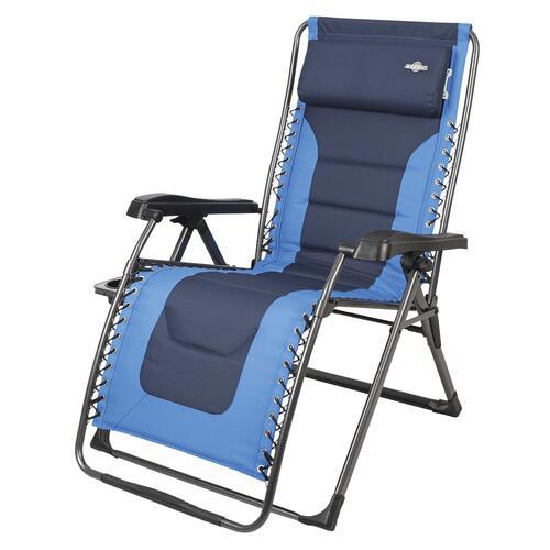 blue padded xl zero gravity lounger