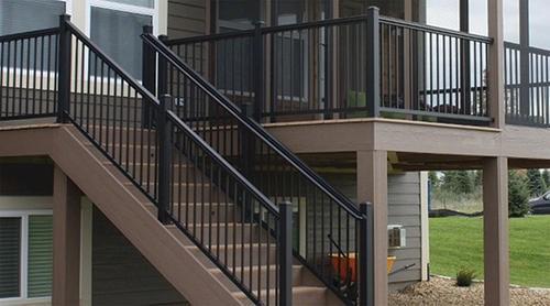 Williams Preassembled Powder Coated Aluminum Railing Panel At Menards® | Aluminum Handrails For Outdoor Steps | Wrought Iron Railings | Baluster | Staircase | Freedom | Powder Coated Aluminum