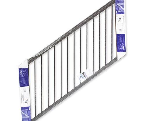 Williams Preassembled Powder Coated Aluminum Stair Panel At Menards® | Black Aluminum Stair Railing | Exterior | Modern | Steel | Cable Rail | Deckorators