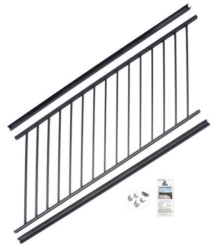 Williams Preassembled Powder Coated Aluminum Stair Panel At Menards® | Pre Assembled Stair Railing | Pressure Treated | Aluminum Stair | Deck Railing Systems | Cable Railing Kit | Deckorators