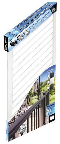 Williams Preassembled Powder Coated Aluminum Stair Panel At Menards®   Pre Assembled Stair Railing   Deckorators   Balusters   Pressure Treated   Stainless Steel   Wood