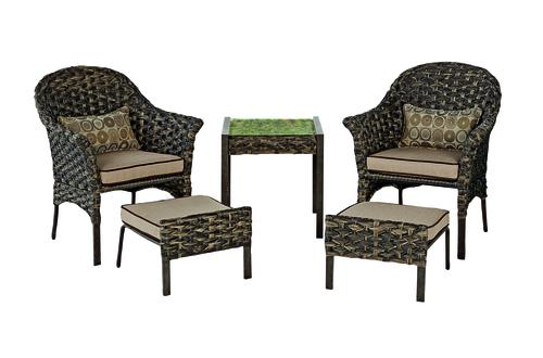 sheffield brown 5 piece seating patio
